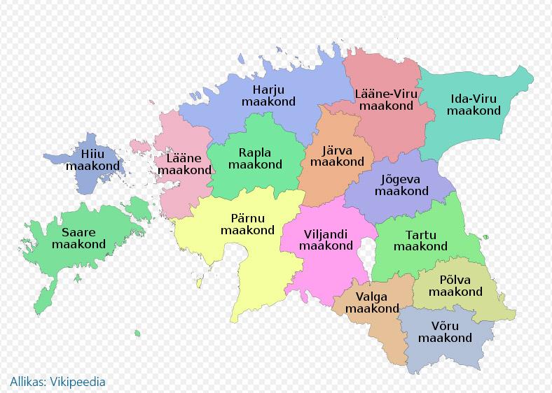 eesti-maakonnad